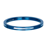 IXXXI JEWELRY RINGEN iXXXi Jewelry Washer Bonaire 2mm Steel Blue with mother-of-pearl