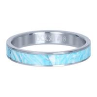 IXXXI JEWELRY RINGEN iXXXi Jewelry Washer 4mm Silver Ceramic Blue Paradise