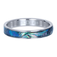 IXXXI JEWELRY RINGEN iXXXi Jewelry Vulring 4mm Zilver Abalone Blue Schelp
