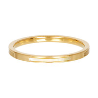 IXXXI JEWELRY RINGEN iXXXi Jewelry Washer Bonaire 2mm Steel Gold with yellow mother-of-pearl
