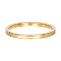 IXXXI JEWELRY RINGEN iXXXi Schmuckscheibe Bonaire 2mm Stahl Gold mit gelbem Perlmutt
