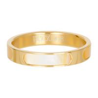 IXXXI JEWELRY RINGEN iXXXi Schmuckscheibe Aruba 4mm Stahl Gold mit Perlmutt