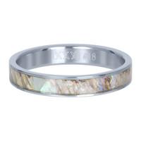 IXXXI JEWELRY RINGEN iXXXi Jewelry Vulring 4mm Zilver Grey Schelp