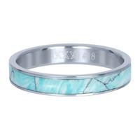 IXXXI JEWELRY RINGEN iXXXi Jewelry Washer 4mm Silver Ceramic Green Paradise