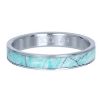 IXXXI JEWELRY RINGEN iXXXi Schmuckscheibe 4mm Silber Keramik Grün Paradies