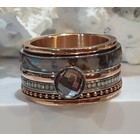 IXXXI JEWELRY RINGEN iXXXi COMBINATION RING ROSE SHELL 1077