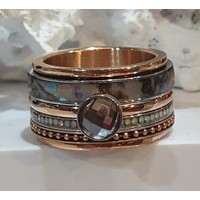 IXXXI JEWELRY RINGEN iXXXi COMBINATIE RING ROSE SHELL 1077