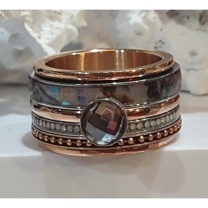 IXXXI JEWELRY RINGEN iXXXi COMBINATION RING ROSE SHELL 1077 ROSE