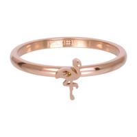 IXXXI JEWELRY RINGEN iXXXi Jewelry Vulring 2mm  Flamingo Rosekleurig Staal