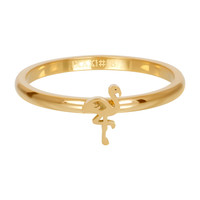 IXXXI JEWELRY RINGEN iXXXi Jewelry Vulring 2mm  Flamingo Goudkleurig Staal