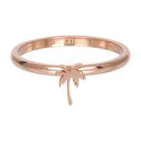 IXXXI JEWELRY RINGEN iXXXi Jewelry Vulring 2mm  Palmboom Rosegoudkleur