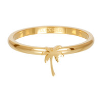 IXXXI JEWELRY RINGEN iXXXi Jewelry Vulring 2mm  Palmboom Goudkleur