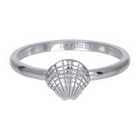 IXXXI JEWELRY RINGEN iXXXi Jewelry Vulring 2mm  Schelpje Zilverkleur