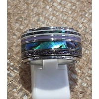 iXXXi JEWELRY iXXXi COMBINATIE OF COMPLETE RING BLUE 1081 ZILVERKLEURIG- KIES