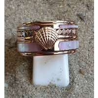 IXXXI JEWELRY RINGEN iXXXi COMBINATION OR COMPLETE RING PINK SHELL 1084 ROSE-CHOOSE
