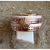 IXXXI JEWELRY RINGEN iXXXi KOMBINATION ODER KOMPLETTE RING PINK SHELL 1085 ROSE-CHOOSE