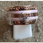 IXXXI JEWELRY RINGEN iXXXi COMBINATION OR COMPLETE RING PINK 04 1086 PINK COLOR