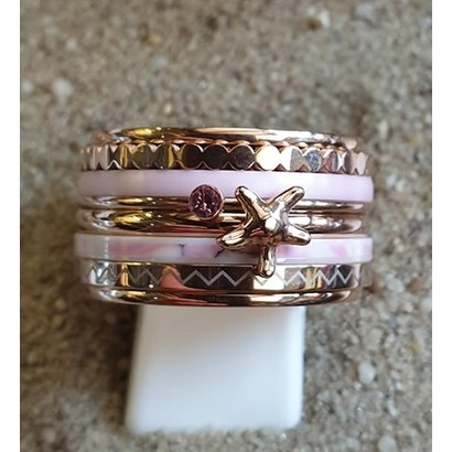 IXXXI JEWELRY RINGEN iXXXi COMBINATION OR COMPLETE RING PINK 04 1087 ROSE-CHOOSE