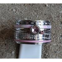 IXXXI JEWELRY RINGEN iXXXi COMBINATIE OF COMPLETE RING PINK 08  1090 ZILVERKLEURIG- KIES