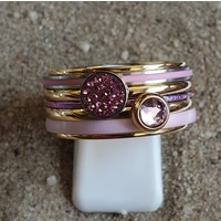 IXXXI JEWELRY RINGEN iXXXi COMBINATION OR COMPLETE RING PINK 09 1091 GOLD COLORED