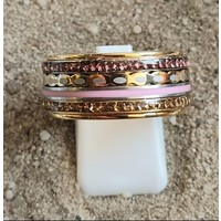 IXXXI JEWELRY RINGEN iXXXi COMBINATION OR COMPLETE RING PINK 11 1093 GOLD COLORED