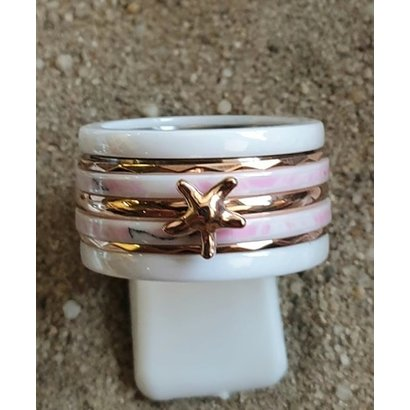 IXXXI JEWELRY RINGEN iXXXi COMBINATION OR COMPLETE RING PINK 12 1094 - SELECT