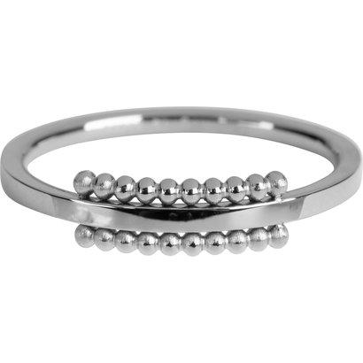 CHARMIN'S Charmins Ring Einzigartig Glänzendes Stahl Silber