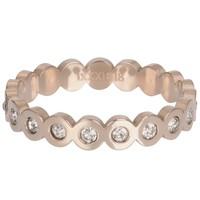 IXXXI JEWELRY RINGEN iXXXi Jewelry Vulring BIG CIRCLE 4mm  Rosegoudkleurig