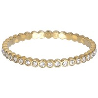 IXXXI JEWELRY RINGEN iXXXi Jewelry Vulring SMALL  CIRCLE STONE  2mm  Goudkleurig
