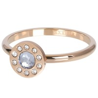 IXXXI JEWELRY RINGEN iXXXi Jewelry Vulring DIAMOND CIRCLE  2mm  Rosegoudkleurig