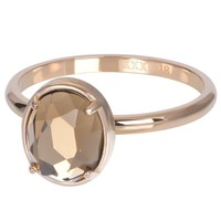 IXXXI JEWELRY RINGEN iXXXi Jewelry Vulring GLAM OVAL  2mm  Rosegoudkleurig
