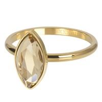 IXXXI JEWELRY RINGEN iXXXi Jewelry Vulring ROYAL DIAMOND  2mm  Goudkleurig