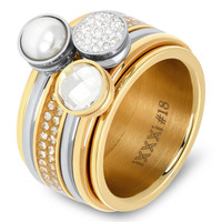 IXXXI JEWELRY RINGEN iXXXi Combination Bi Collor or Complete ring Christmas 05 - CHOOSE