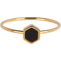 CHARMIN'S Charmins ring Hexagram  Steel Gold