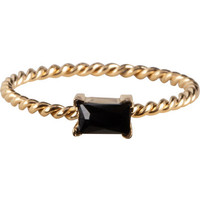 CHARMIN'S Charmins ring Twisted Queen Black Steel Gold