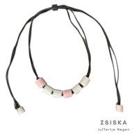ZSISKA DESIGN Zsiska Design ketting Colourfull Beads Roze Wit