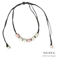 ZSISKA DESIGN Zsiska Design necklace Colourfull Beads Pink White