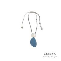 ZSISKA DESIGN Zsiska Design Necklace Pendant Jeans White