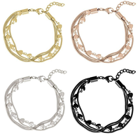 iXXXi JEWELRY IXXXI JEWELRY BRACELET Hearts and Snake chain Choose the color!