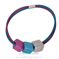 CUBE COLLECTION CUBE KETTING Purple Petrol met 3 Cubes