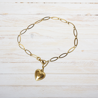 GO-DUTCH LABEL Go Dutch Label Bracelet with Heart Gold colored