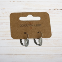 GO-DUTCH LABEL Go Dutch Label Oorhangers met Hartje  Zilverkleurig