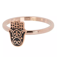 IXXXI JEWELRY RINGEN iXXXi Jewelry Vulring Boho Hand  2mm Rosegoudkleurig