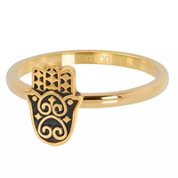 IXXXI JEWELRY RINGEN iXXXi Jewelry Vulring Boho Hand  2mm  Goudkleurig