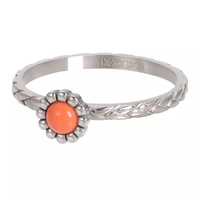 IXXXI JEWELRY RINGEN iXXXi Jewelry Washer Inspired Coral 2mm Silver colored