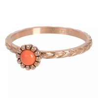 IXXXI JEWELRY RINGEN iXXXi Jewelry Washer Inspired Coral 2mm Rose gold colored