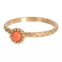 IXXXI JEWELRY RINGEN iXXXi Jewelry Vulring Inspired Coral  2mm Goudkleurig