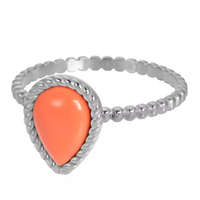 IXXXI JEWELRY RINGEN iXXXi Jewelry Vulring Magic Coral  2mm Zilverkleurig