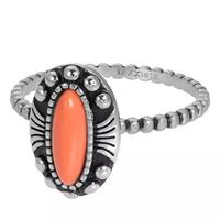 IXXXI JEWELRY RINGEN iXXXi Jewelry Vulring Indian Coral  2mm Zilverkleurig