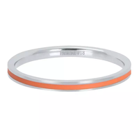 IXXXI JEWELRY RINGEN iXXXi Jewelry Washer Line Coral 2mm Silver colored